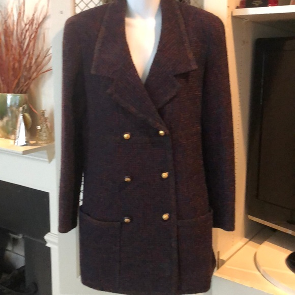 1f8508c1a15 CHANEL Jackets   Blazers - Vintage Chanel tweed double breasted jacket sz 40